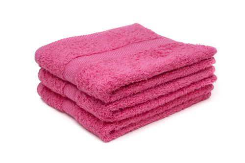 pink hairdressing towels