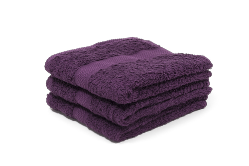 purple hairdressing towels