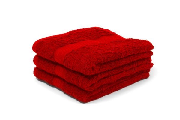 red luxury hairdressing towel